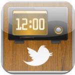 TwitClock iPhone iPod touch twitter in je dock