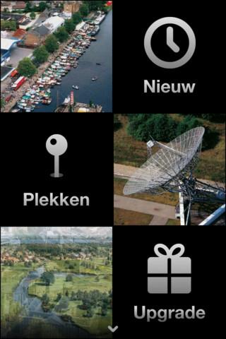 De Bovenkant van Nederland hoofdmenu