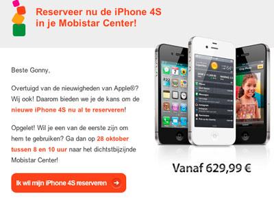 iphone-4s-mobistar-nieuwsbrief