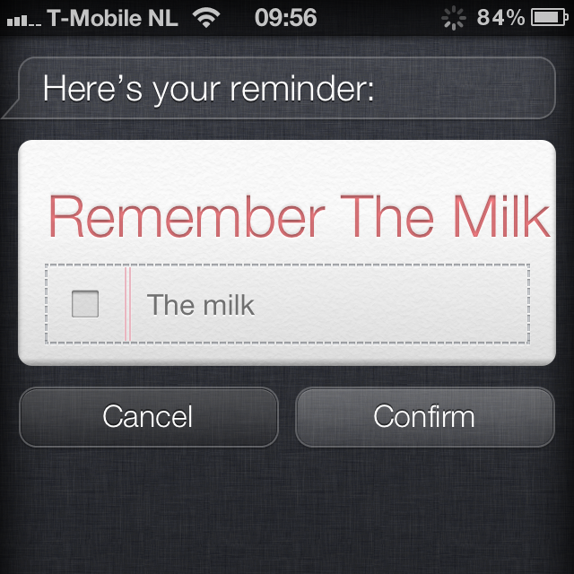 Remember The Milk Siri