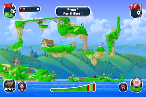 GU DI Worms Crazy Golf iPhone iPod touch