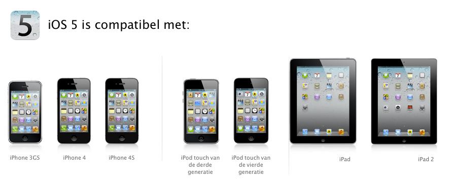 Wat heb ik nodig voor iOS 5