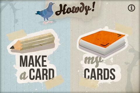 Howdy e-cards versturen op iPhone