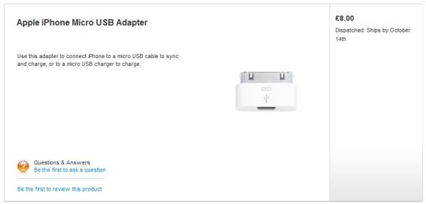 Micro USB iPhone 4S