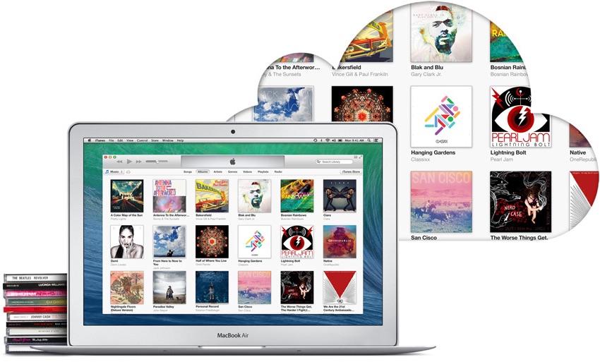 iTunes Match op een MacBook