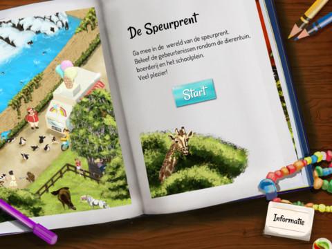Speurprent iPad app boek tekening