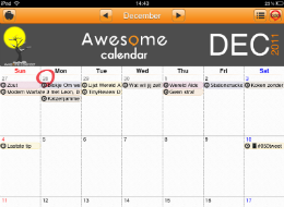 Awesome Calendar iPad header