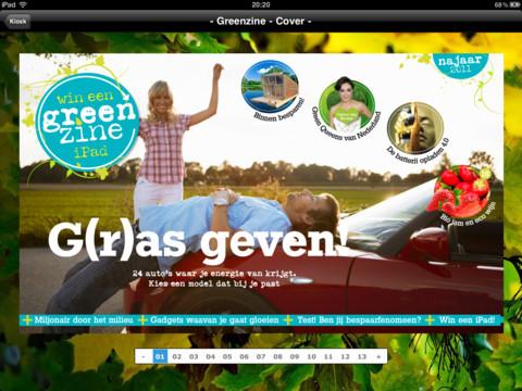 Greenzine iPad magazine