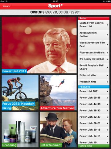Sport Magazine inhoudsopgave