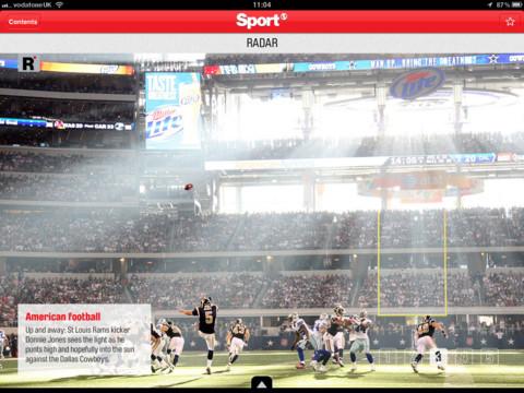 Sport Magazine header