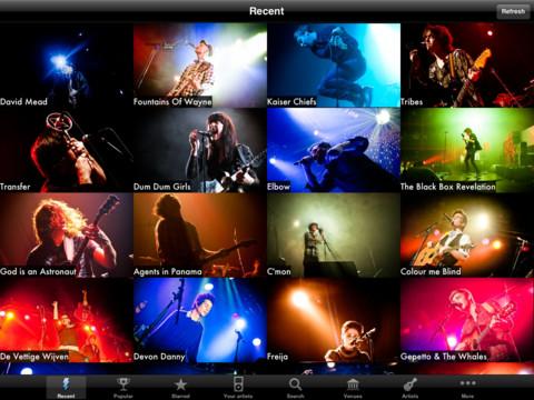 Wannabes concertfotografie iPad