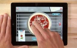 Domino 39 s pizza hero zelf een pizza bakken op je ipad for Pizza bakken op tafel