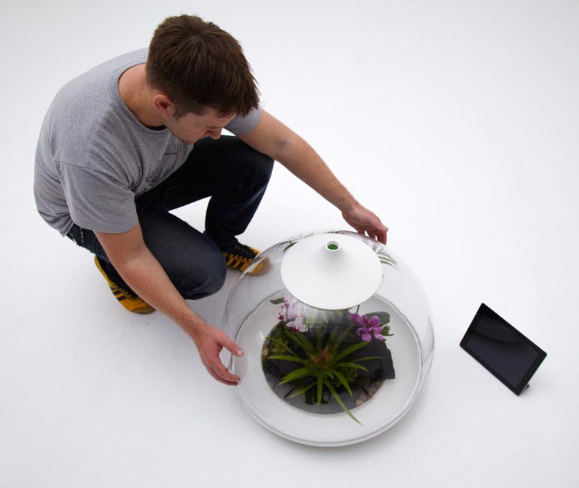 Biome Smart Terrarium iPad