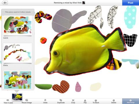 Mixel iPad creatie maken met vormen