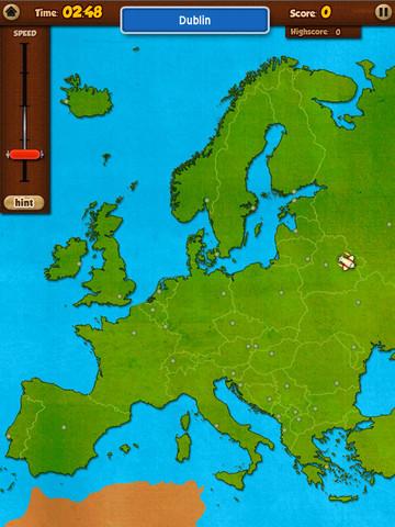 Topo Europa iPad vliegen op kaart