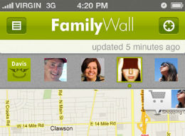 FamilyWall header iPhone iPod touch