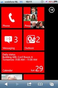 windows phone op iphone