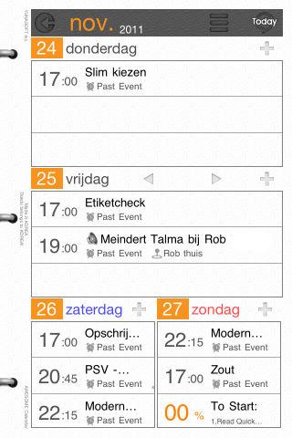 Awesome Calendar halve week overzicht