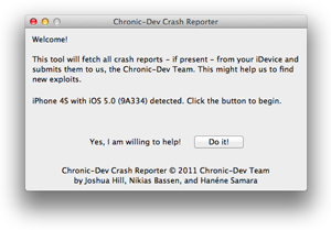 Chronic Dev Crash Reporter