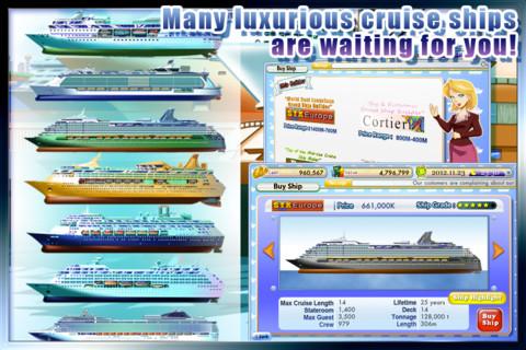 Cruise Tycoon iPhone boten kiezen