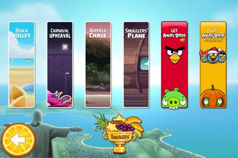 GU DI Angry Birds menu updates