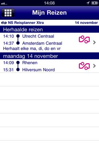 NS Reisplanner Xtra mijn reizen