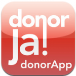 DonorApp ja donor iPhone iPod touch
