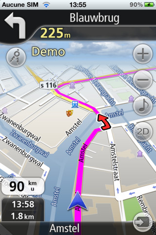 Nafvree GPS Live Netherlands route