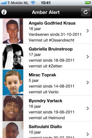 Amber Alert NL vermiste kinderen iPhone