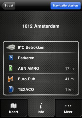 Navigon Benelux nieuwe menu's