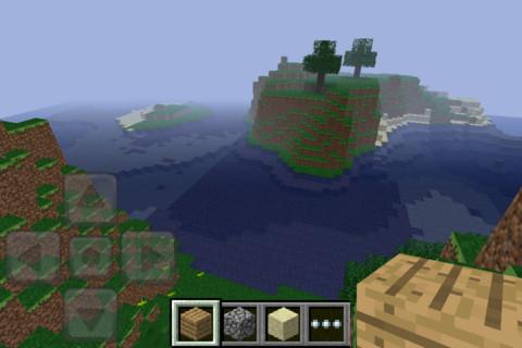 Minecraft: Pocket Edition: Levels worden door het spel automatisch gegenereerd.