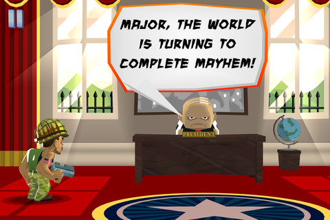 Major Mayhem iPhone
