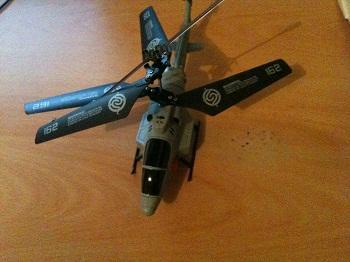De iHelicopter bovenaanzicht