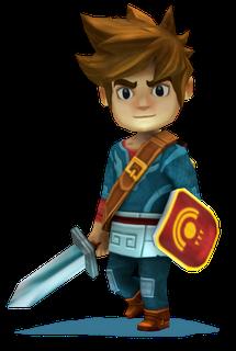 GU WO Oceanhorn iPhone Zelda-achtig personage