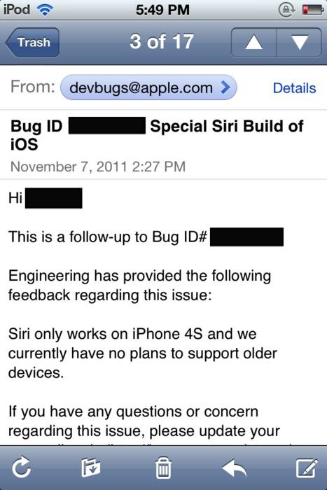 Siri iPhone e-mail