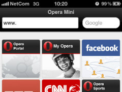 Opera Mini Web Browser voor iPhone iPod touch