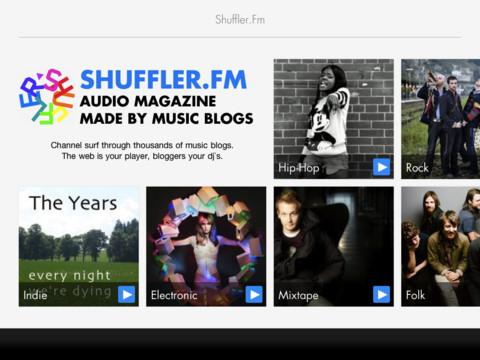 Top 5 iPad apps 2011 Shuffler.fm