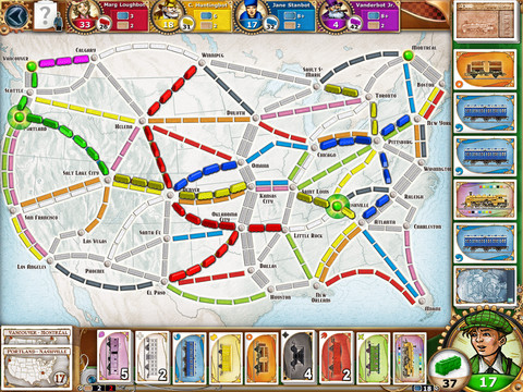 Top 5 iPad apps 2011 Ticket to Ride