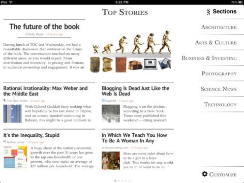 Top 5 iPad apps Zite