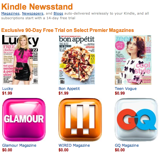 Kindle Newsstand