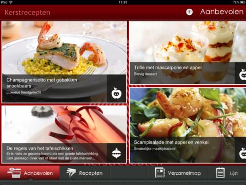 Kerstrecepten iPad Aanbevolen