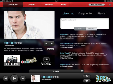 3FM voor de iPad Serous Request