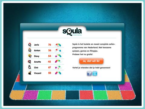 Squla Familiebordspel puntenlijst