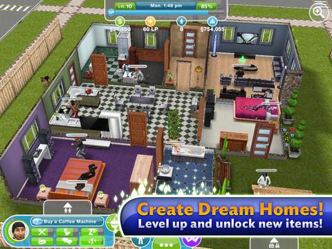 The Sims Freeplay huis ingericht