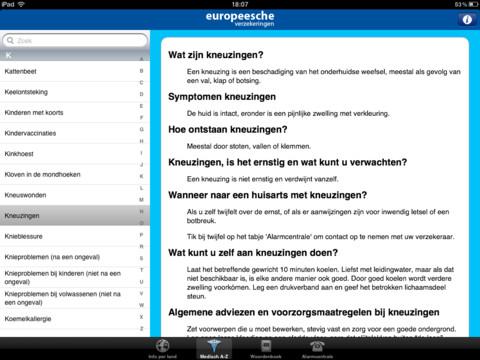 Hulp Op Zak Medisch A-Z op de iPad