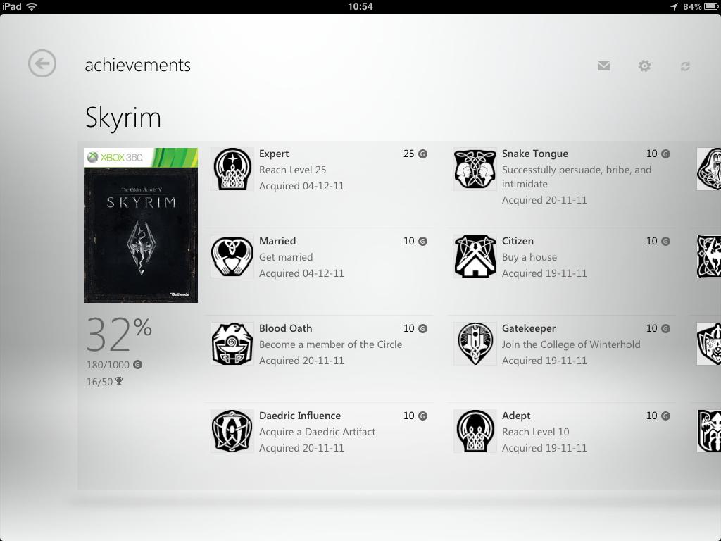 Xbox Live iPad
