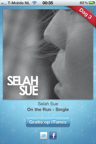 iTunes 12 Dagen Cadeau: On The Run (single) van Selah Sue