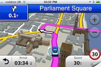Garmin StreetPilot voor West-Europa op de iPhone verschenen