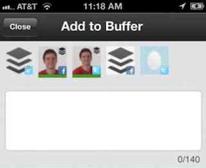 buffer iphone