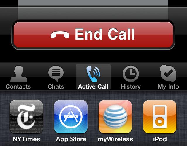 Call iPhone multitask